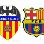 Valencia – Fútbol Club Barcelona, por televisión en directo