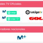 Movistar LaLiga y Movistar LaLiga 123 con sus nuevos logos