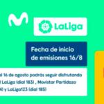 Movistar LaLiga informa del inicio de sus emisiones